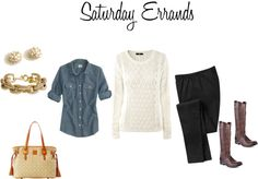 """""""Errands! Alone!"""" by nkg127 ❤ liked on Polyvore"""