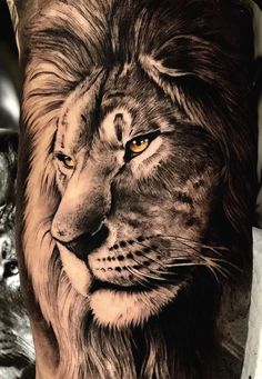 50 eye-catching lion tattoos that make you want to ink - beautiful lion tattoo . - 50 eye-catching lion tattoos that make you fancy ink – beautiful lion tattoo © tattooist SEVEN T - Lion Arm Tattoo, Lion Head Tattoos, Mens Lion Tattoo, Lion Tattoo Design, Leo Tattoos, Animal Tattoos, Girl Tattoos, Tribal Lion Tattoo, Tattoo Moon