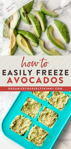 Never throw out an avocado again! Learn how to freeze avocados with these tips and help them last longer and reduce waste. Add frozen avocado pieces into your smoothies or thaw for avocado toast or guacamole. Organize Yourself Skinny | Freezer Tips | Healthy Eating | How To Meal Prep | Meal Prep for Beginners Healthy Freezer Meals, Healthy Meals For Two, Freezer Cooking, Healthy Meal Prep, Easy Healthy Recipes, Cooking Tips, Skinny Recipes, Food Tips, Keto Recipes
