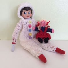 Elf on the Shelf knitted onesie and doll