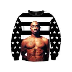 "Tupac ""America's Most Wanted"" Crewneck ($35) ❤ liked on Polyvore featuring tops, hoodies, sweatshirts, shirts, sweaters, black crew neck sweatshirt, nike shirts, crew neck sweat shirt, print shirts and sweat shirts"