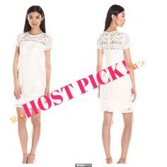 White Lace Taylor Dress