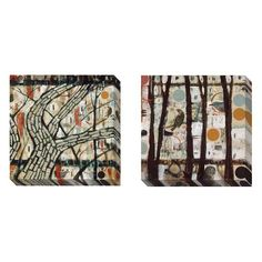 Gallery Direct Judy Paul 'Village and Trees' Gallery-wrapped Canvas Art Set