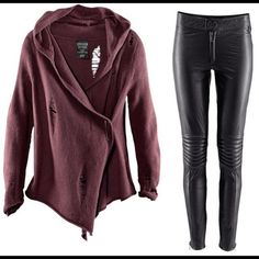 ISO H&M Dragon Tattoo Items H&M Dragon Tattoo Cardigan and leather biker pants. OR similar items. H&M Jackets & Coats