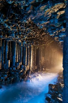 Fengals Caves in Hebrides, Island of Scotland