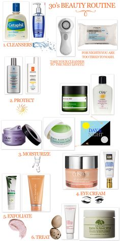 30's best of beauty routine