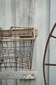Old metal basket