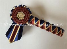 """£35.00 plus p&p  15"""" cob size on 3/4"""" leather - Midnight navy velvet & satin, rust velvet & satin and gold shimmer lame sharkstooth show browband with angled pointed flags. Absolutely gorgeous! In stock and 'Ready to go!'"""
