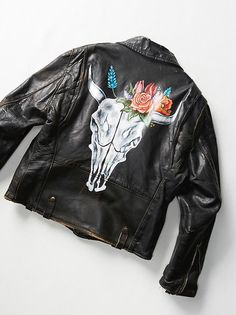Vintage Painted Moto Jacket from Free People!