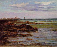 Le littoral en Bretagne, huile sur toile de Maxime Maufra (1861-1918, France)
