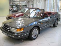 The Classic Saab 900 Aero Convertible On The Saab Showroom Floor.
