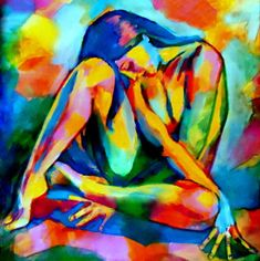 Helena Wierzbicki artwork Glowing Solace for sale and offering more original artworks in Painting Acrylic medium and Abstract Figurative theme. Tableau Pop Art, L'art Du Portrait, Posca Art, Exotic Art, Figure Painting, Figurative Art, Female Art, Art Girl, Watercolor Art