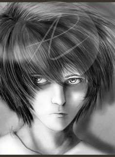 L semi-realistic Portrait (Death Note)