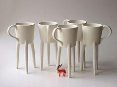 Girafe tasses x 2 Unique tasses à café en par escueladecebras, $78.00