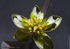 Купить Корни. Гребень для волос. Эксклюзивное ювелирное украшение - оливковый… Exquisite Wire and Resin Kanzashi Flower Hair Jewelry