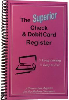 "Amazon.com : The Superior Check and Debit Card Register - Blue 5.5"" x 8.5"" : Checkbook Registers : Office Products"