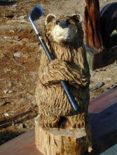 Bear Necessities -- The online gallery of Award Winning Chainsaw Carver Bob King