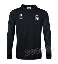 51e4692c4bc Dernier Sweatshirt Training Real Madrid Ligue Des Champions 2016-2017  France Thai Edition Velours Noir