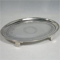 vintage teapots with stand | An Antique Victorian Sterling Silver teapot stand, having an oval body ...