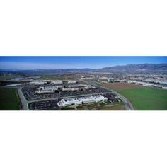 Aerial View Silicon Valley Business Campus San Jose California USA Canvas Art - Panoramic Images (36 x 12)
