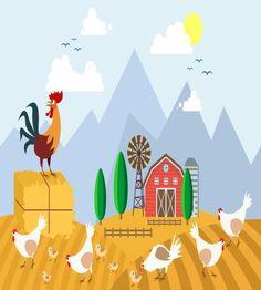 تصميم دجاج في المزرعة روعة ملف مفتوح