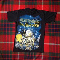 Vintage Iron Maiden T-Shirt by FreaksceneVintageTs on Etsy