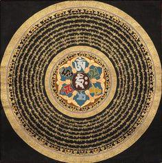 Om Mani Padme Hum mandala-- the mantra of Chenrezig, Buddha of Compassion