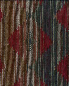 Autumn Equinox- Chenille Jacquard Brown & Blue Acrylic FabricAutumn Equinox- Chenille Jacquard Brown & Blue Acrylic Fabric,