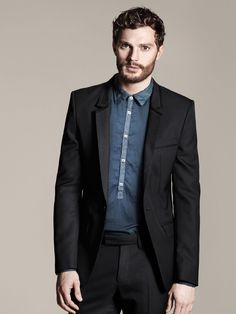 Tuxedo with chambray shirt :: man with beautiful...everything