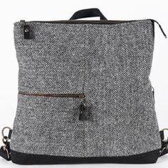RAMBLER RUCKSACK 4WAY - Catherine Aitken Bicycle Bag, Harris Tweed, Cool Backpacks, Fabric Bags, Herringbone, Messenger Bag, Shoulder Bag, Purses, Classic