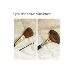 2. Fan Brush Hack   35 DIY Beauty Hacks You Need To Know About