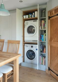 Clever places to squeeze your washing machine and dryer