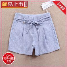 朱迪安娜3137 2015夏款纯色休闲短裤女士宽松显瘦 亚麻外穿热裤女-淘宝网
