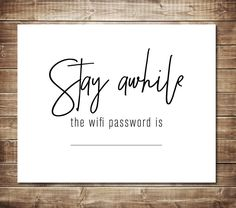 This printable on Etsy would be a great way to let my customers know what my wifi password is