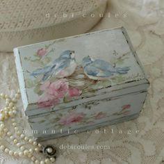 szkatułka w ptaszki