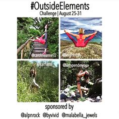 Want to get #outside and savor the end of summer? I do I do! This mini #yogachallenge looks like a fun excuse to do some #yogaoutside - who's with me? Maybe @greenyogix @erdemgulova @erincunninghamyoga @kellie_wirth_yoga @yoga_mama123 ?? Thanks to @zumbayogi for the hot tip on this one.  . . .  #Repost @leighemily with @repostapp  Are you ready for this yoga scavenger hunt!? We'll be posting our first element tomorrow...ROCK! I hope you can join in the fun! _ #OutsideElements August 25-31…
