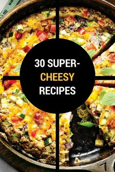 Stringy, gooey cheese is the ultimate comfort food. Check out our favourite cheesy recipes. Quick Pasta Recipes, Cheesy Recipes, Yummy Chicken Recipes, Yum Yum Chicken, Quick Easy Meals, Easy Dinner Recipes, Soup Recipes, Yummy Food, Healthy French Toast