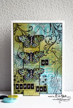 Butterfly Art, Butterflies, Mixed Media Cards, Art Journal Techniques, Art Journal Pages, Art Journaling, Artist Trading Cards, Watercolor Cards, Art Journal Inspiration
