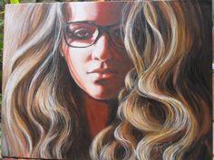 retrato de Carolina - set/2013 acrílico sobre tela 30x40