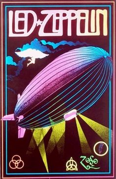 http://custard-pie.com/ Led Zeppelin Colorful Vintage Poster 1981  http://www.justleds.co.za