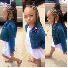 Demi Larissa West on I really did love this hairstyle braids_bylauren__ Afroliciouswomen Little Girl Braid Styles, Kid Braid Styles, Little Girl Braids, Black Girl Braids, Braids For Kids, Braids For Black Hair, Girls Braids, Kid Braids, Braids For Black Kids