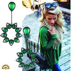 Sucesso de vendas, o brinco Verde esmeralda é lindo!