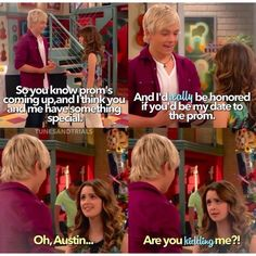 That was so disappointing. I was so thrilled that they were gonna FINALLY get together and then all that hope came crashing down! Disney Channel Shows, Disney Shows, Funny Disney Memes, Funny Memes, Hilarious, Austin Moon, Old Disney, Disney Fun, Disney Theory
