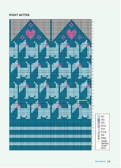 Intarsia Patterns, Mittens, Diy Projects, Stitch, Knitting, Handmade, Knits, Albums, Blue Moon