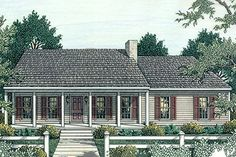 Ranch Style House Plan - 3 Beds 2 Baths 1492 Sq/Ft Plan #406-132 Exterior - Front Elevation - Houseplans.com