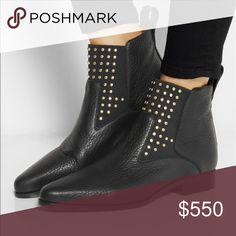 Chloe Studded Chelsea Boot Worn only twice practically brand new!!! Have duster and box. Great buy Chloe Shoes Ankle Boots & Booties