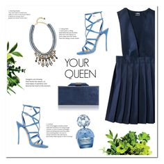 """""""YOUR QUEEN"""" by uniqueimperfection ❤ liked on Polyvore featuring French Toast, Nocturne, Dsquared2, Amanda Wakeley, Marc Jacobs, Blue and uniqueimperfection"""
