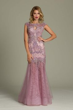 Beaded Lace Jovani Gown