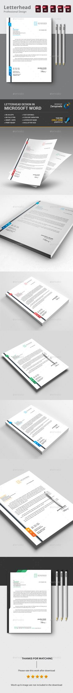letterhead business letter format envelope sample psd template - free word letterhead template