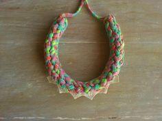 MYRTO  chunky knitted colorful t shirt yarn by MerakibyStevie